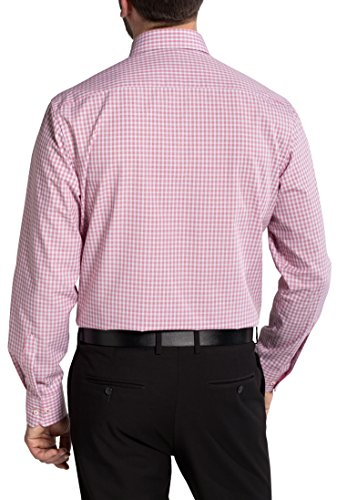 Eterna Long Sleeve Shirt Comfort Fit Fil à Fil Checked Rosso/Grigio
