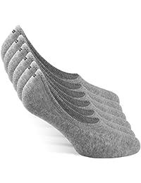 Snocks Calcetines pinkies unisex para Sneaker - Calcetines invisibles (6 pares) tamaño: 35-50 color: Negro, Blanco, Gris, Azul, Rosa - Tobilleros para Sneaker - pinkies de algodón