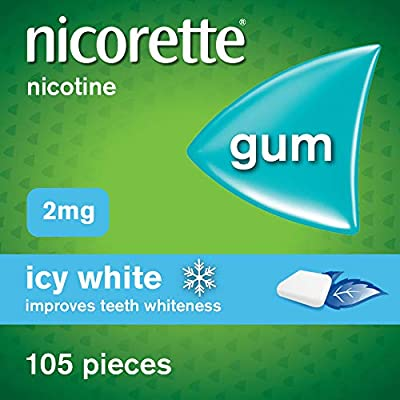 Nicorette Gum, 2 mg, Icy White, 105 Gums from Nicorette