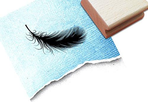 Stempel - Motivstempel Filigrane FEDER - Bildstempel für große und kleine Hände, Scrapbook, Artjournal und mehr...- von zAcheR-fineT