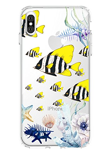 Shark Sommer Aloha Collection Ocean Sea Sea turtleclear Shell zurück Fall für, Tropical Fish:iPhone X