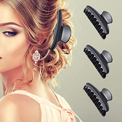 Frcolor Pinze fermacapelli plastica per parrucchiere Nero 12PCS