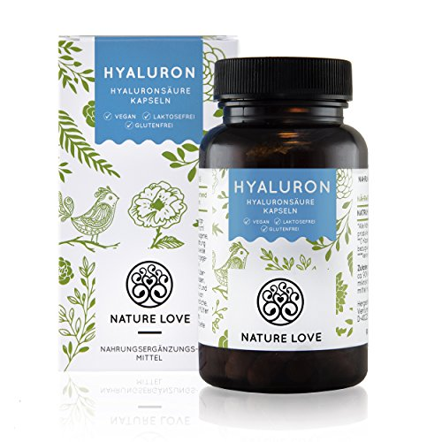 Hyaluronsäure Kapseln - 90 Stück im 3 Monatsvorrat. Hochdosiert mit 300 mg je Kapsel. Hyaluronsäure in höchster Qualität: gewonnen aus Fermentation. Optimale Molekülgröße von 500-700 kDa. Vegan und hergestellt in Deutschland