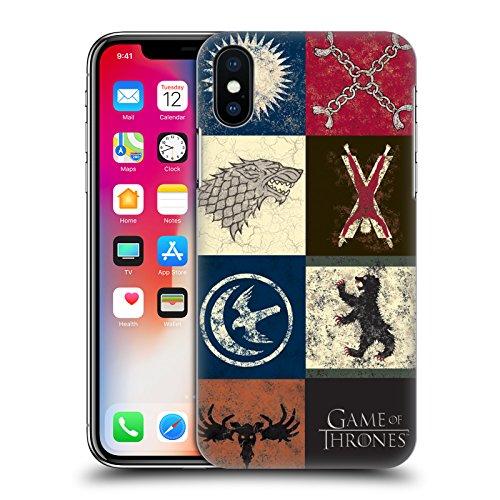 Ufficiale HBO Game Of Thrones Jon Show Cavallo Battle Of The Bastards Cover Retro Rigida per Apple iPhone X Casa Sigillo