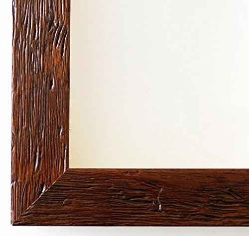 Spiegel Wandspiegel Badspiegel Flurspiegel Garderobenspiegel - Über 200 Größen - Rimini Braun 3,0 - Außenmaß des Spiegels 50 x 90 - Wunschmaße auf Anfrage - Modern