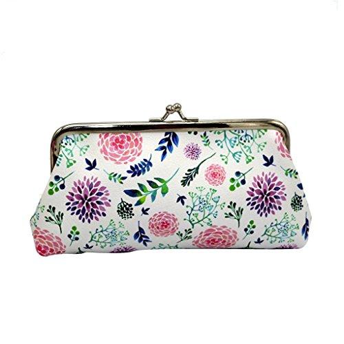 Longra IL Retro di Pu La Stampa di Cuoio 18cmx9.5cm Piccola borsa, portafoglio di Piccole Donne multicolore_A