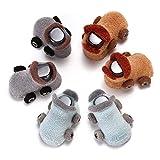 sanfeng Baby Baumwolle Winter Socken, Cute Cartoon Auto Design Anti-Rutsch Socken für Unisex Baby Kleinkind Kids, perfekt für Baby Lernen Zu Fuß (3Paar)