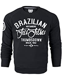 Brazilian Jiu-Jitsu Crewneck Sweatshirt. Thumbsdown Brazil 1952. Rio De Janeiro Workout Camp. Martial Arts Sweat-shirt. Fightwear. Training. Casual. Gym. MMA Hoodie