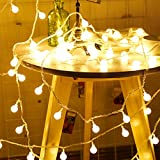 LED Ball String Lights, Zimingu 10m USB Globe Weihnachten Fairy Light, 80 Kleine Birne Perfekt für Indoor, Outdoor, Garten, Weihnachtsbaum, Party, Festival, Hochzeit Dekoration (Warmes Weiß)