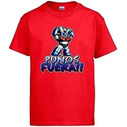 Camiseta Mazinger Z puños fuera - Rojo (Varios colores)