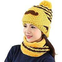 China Show Mujeres Schöne Bigote Invierno Gorro Polar Forrado Ciclo de Gorro Sombrero con máscara Amarillo
