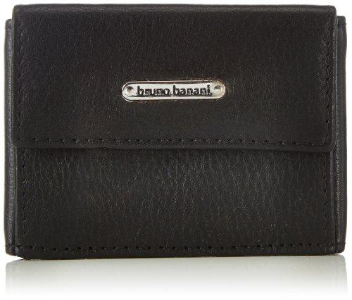 bruno banani Minibörse W 320.1238 Unisex-Erwachsene Geldbörsen 9x6x3 cm (B x H x T), Schwarz (schwarz)