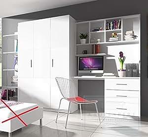 Kinderzimmer Paradise 4 Weiß Hochglanz Jugendzimmer Schreibtisch