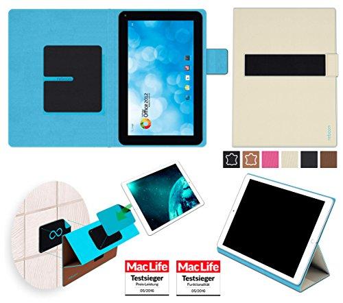 reboon Hülle für Blaupunkt Endeavour 1000 WS Tasche Cover Case Bumper | in Beige | Testsieger