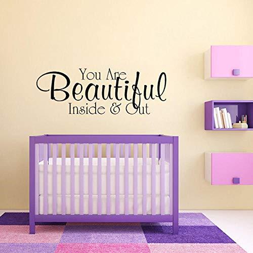 Sie sind schön von innen und außen Art Home Wandaufkleber PVC für Kidsroom54CM*19.6CM