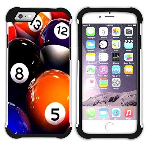 """Graphic4You Billard Billardspiel Kugel """"8 Ball"""" Hart + Weiche Kratzfeste Hülle Case Schale Tasche Schutzhülle für Apple iPhone 6 / 6S Design #11"""