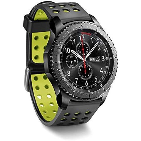 Greatfine Reloj Inteligente Smart Watch 22mm Silicona Banda de Reloj de la correa de para Samsung Galaxy Gear 2 R380 Neo R381 Live R382 / MOTO 360 2nd/Pebble Time / LG G Watch W100/W110/Urbane Smartwatch