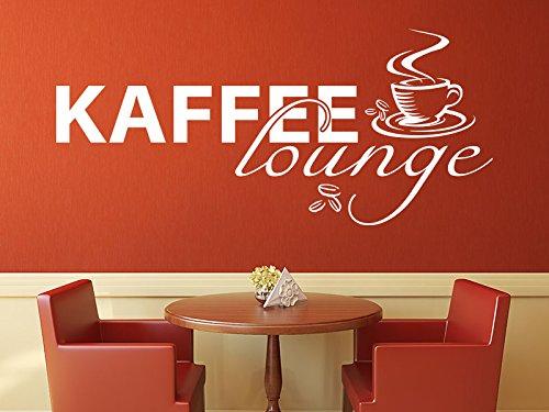 Klebeheld® Wandtattoo Kaffee Lounge (Gratis Kaffee Proben)