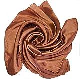 YSS Nickituch/Seidentuch 1 A Qualität unifarben Made in Thailand (braun)