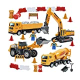 GAO Set di Scena di Veicoli di ingegneria Urbana, Giocattolo di Escavatore di Veicoli di ingegneria, Modello Completo