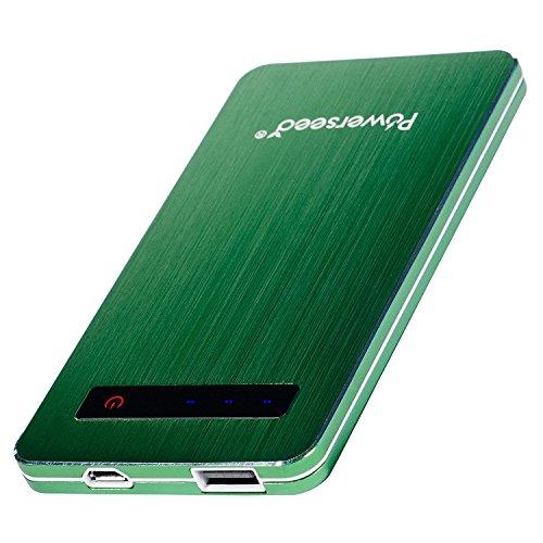 Powerseed® Blade, 4.000 mAh (Grün). Mobiler, tragbarer Notfall Akku für unterwegs. Lädt das iPhone 5s und iPhone 6 2 Mal und das Samsung Galaxy S6 ein volles Mal wieder auf! (Herren Apple Grn)