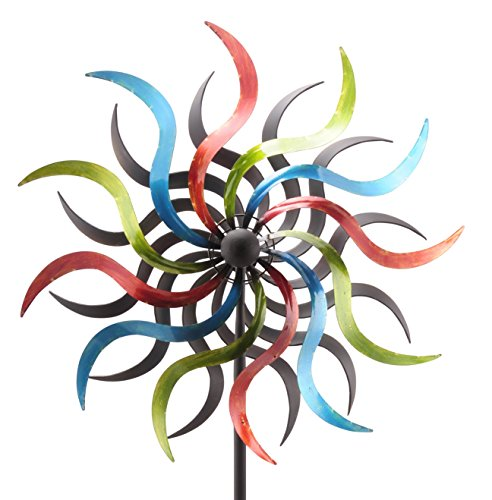 Windrad Windspiel Metall 35 cm Höhe 184 cm bunt 219630 F31