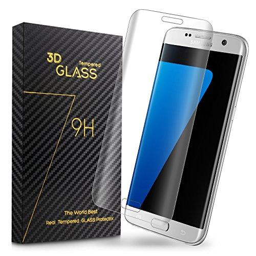 Preisvergleich Produktbild Duractron Displayschutz Panzerglas Schutzfolie Glas Folie mit extra Reinigungsset für Samsung Galaxy S7 Edge(Transparent)