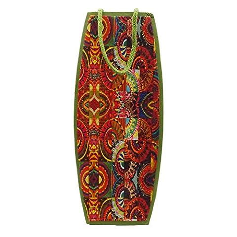 Decorative Bottle Wine Bag Handmade Paper Champagne Transporteur Cover Pouch Cadeau