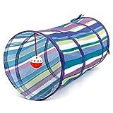 Tunnel pour chat coloré jouet balle et–Garder Votre chaton et petits animaux amuser avec Active d'exercice et jouer Jeux interactifs. 4jouets supplémentaires incluses–Aide à Arrêter miaulement et rayures