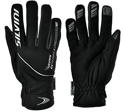 SILVINI ORTLES Softshell Handschuhe Herren, Black/Charcoal, XL