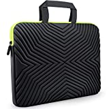 #4: Tizum Z18 15-inch to 15.6-inch Designer Ultra Slim Handle Sleeve Bag with Shock Proof Foam Protection for Laptops (Black)