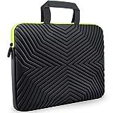 #8: Tizum Z18 15-inch to 15.6-inch Designer Ultra Slim Handle Sleeve Bag with Shock Proof Foam Protection for Laptops (Black)