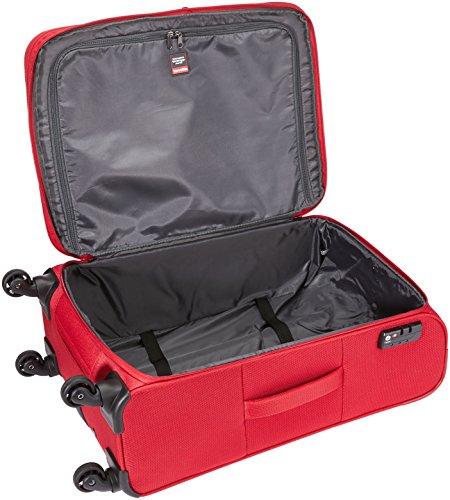 518g3HhwdtL - Travelite DELTA Kofferset, 4 teilig, 4-Rad L/M, 2-Rad S, Bordtasche, Rot, 89240-10 Juego de maletas, 78 cm, 235 liters, Rojo (Rot)