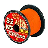 WFT KG STRONG 600m 0,32mm 51kg, geflochtene Schnur, Meeresschnur, Angelschnur, Geflechtschnur, Farbe:Orange
