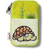 NICI 37377 - Handytäschchen Schildkröte Plüsch, 15 x 9 cm