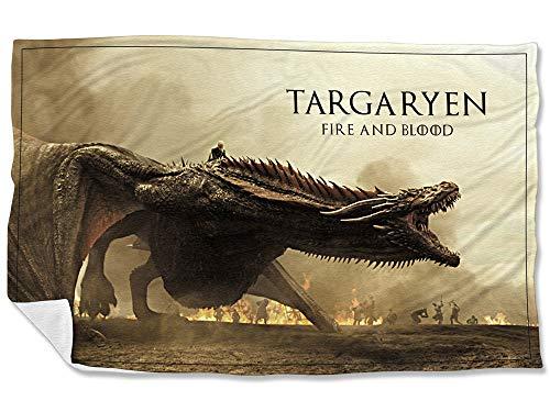 BeImpress - Copriletto Leggero in Pile 100x155cm - Drago Drogon Targaryen