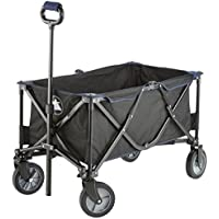 10T Outdoor Equipment, Carrello a mano, pieghevole Foldy Trolley, Nero (Schwarz), 50 kg