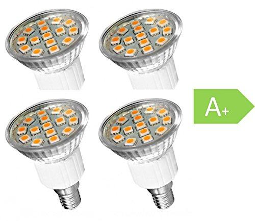 Müller Licht LED E14 Kerzenform 3 W = 26 W Warmweiß (Ø x L) 38 mm x 108 mm EEK: A+ 4 St. (108 Led-licht)