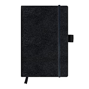 Herlitz A5 Blank My Book Classic Hardcover Notebook with Book Ribbon and Pen Loop - Black