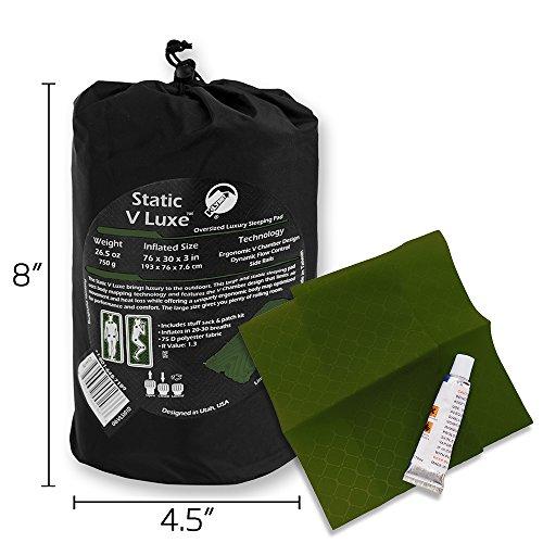 Klymit Aufblasbare Outdoor Campingmatte Luftmatratze Statische V Luxe aufblasbar Sleeping Pad/Matte