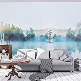 3D Papier Peint Non Tissé 8D Chinois Abstrait Tv Fond Mur Papier Chambre Encre Peinture Paysage Peintures Murales Vidéo Décoration Murale Revêtement Personnalisé, 250 Cm * 175 Cm