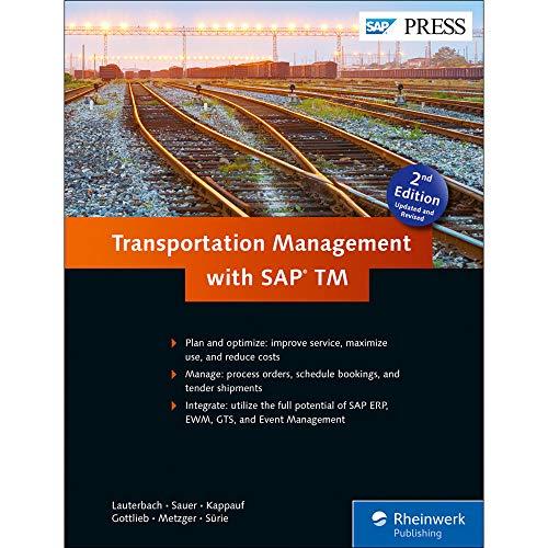 Transportation Management with SAP TM (SAP PRESS: englisch)