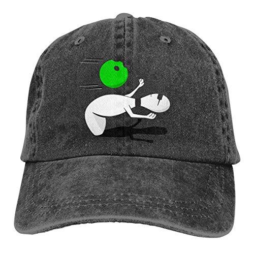 dingjiakemao Funny Matrix Bowling Denim Hat Adjustable Men Casual Baseball Cap