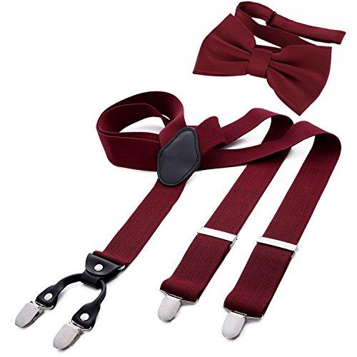 DonDon Herren 3,5 cm breiter Hosenträger in Y-Form elastisch und verstellbar im 2er Set mit...