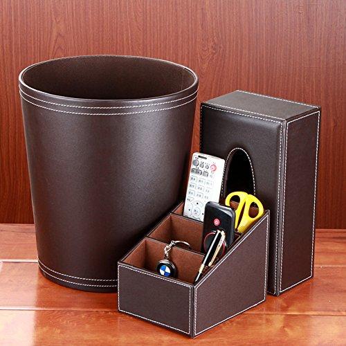 pattumiera dell'acciaio inossidabile/Casa tre set/Tessuto europeo creative box/Scrivania.-D