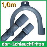 Ablaufschlauch 19mm x 22m mit Bügel für die Waschmaschine oder Spülmaschine, 1m