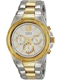Titan Analog White Dial Men's Watch - 1695BM01