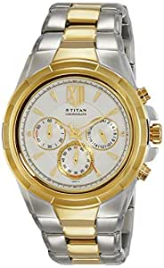 Titan Analog White Dial Men's Watch - 1695BM01