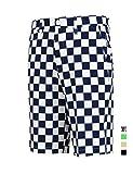 Golf Shorts Herren Bermuda Karo Solid Männer Kurze Hose Sommer Stretch Größe 34'' Taille 92cm Kariert