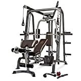 Marcy MD-9010G Home Gym Smith Machine Black - Removable Weight Bench | Linear Ball Bearings | 272kg Weight Load by Marcy...